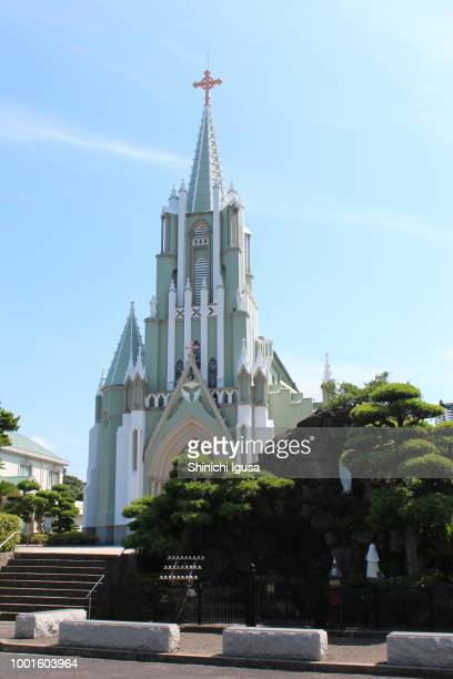 hirado xavier memorial church - shinichi igusa ストックフォトと画像