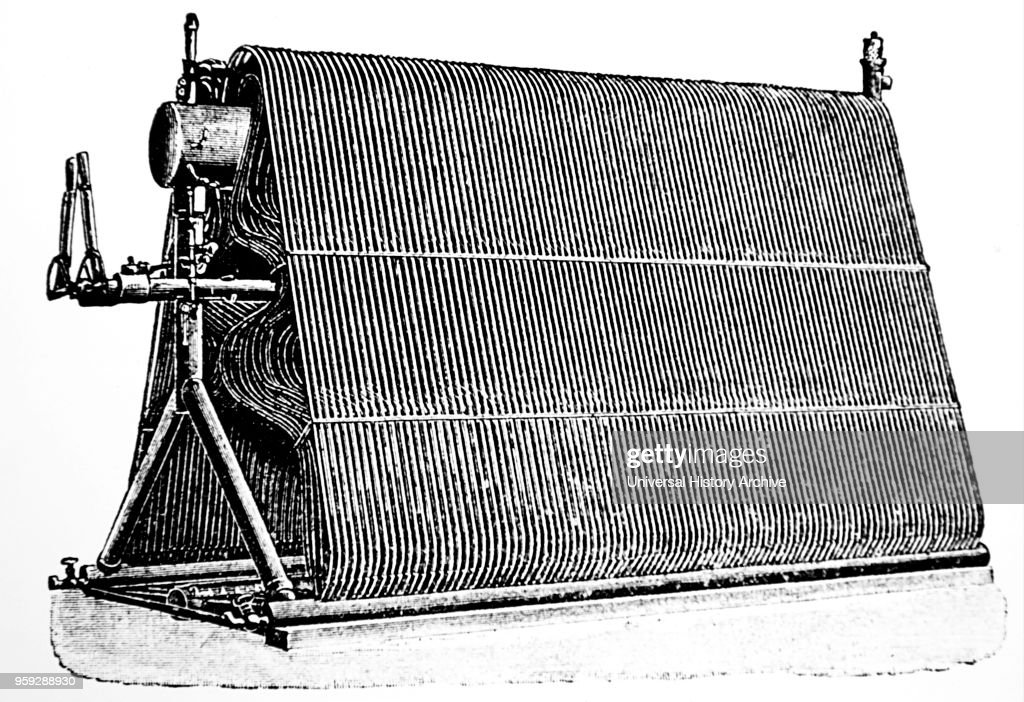 Hiram Maxim\'s water tube boiler of his flying machine. Pictures ...