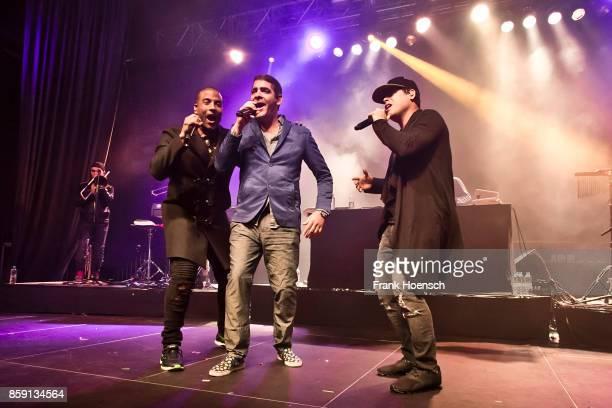 Hiram Riveri Roldan Gonzalez Rivero and Yotuel Romero Manzanares of the Cuban band Orishas perform live on stage during a concert at the Huxleys on...