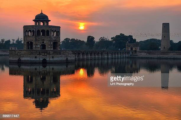 hiran minar - punjab pakistan stock photos and pictures