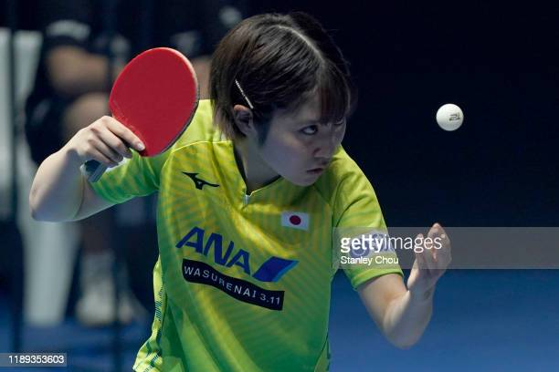 Hirano Miu of Japan in action during day two of the T2 Diamond 2019 Singapore at the Our Tampines Hub on November 22, 2019 in Singapore.
