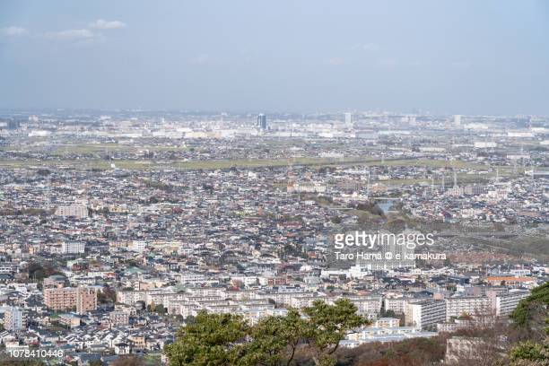 Hiratsuka, Isehara, Atsugi and Ebina cities in Kanagawa prefecture in Japan