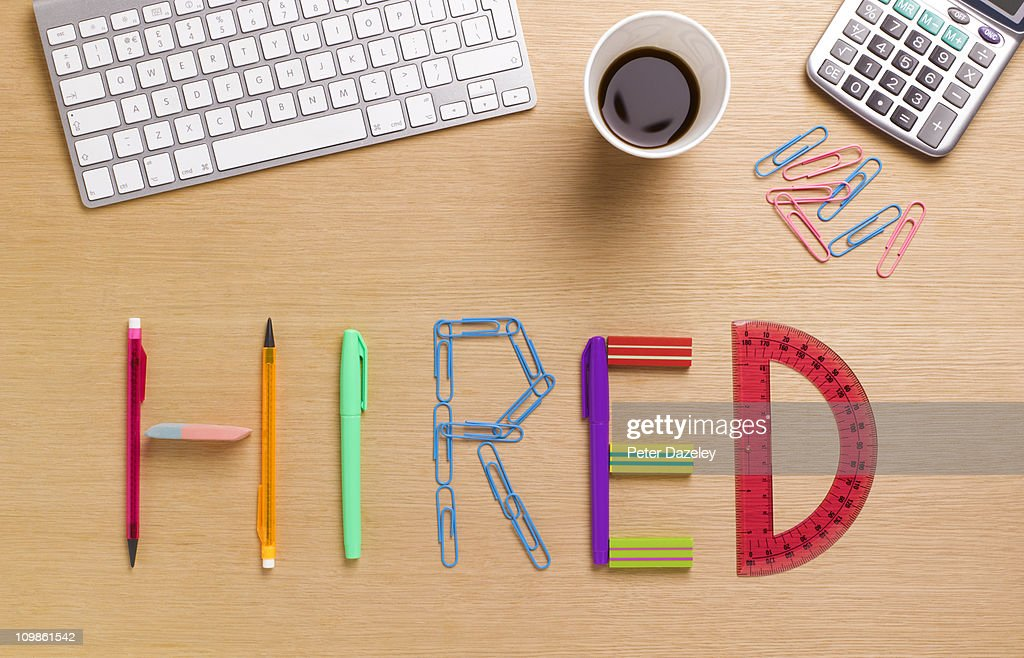 Hired office desk : Stock Photo