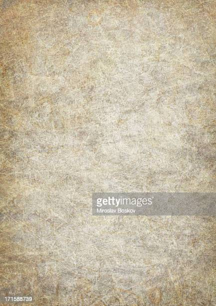 hi-res antique animal skin parchment wizened mottled vignetted grunge texture - old parchment background burnt stock photos and pictures