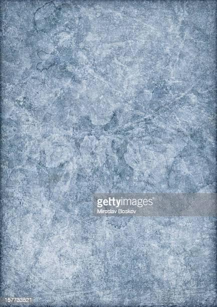 Hi-Res Antique Blue Recycled Paper Mottled Vignette Grunge Texture
