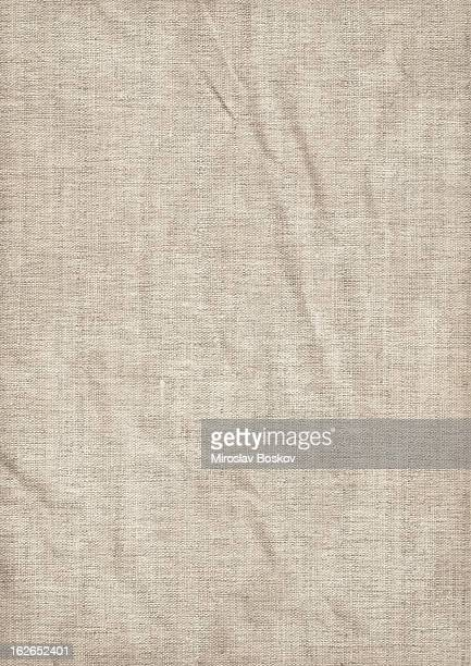 hi-res artist's coarse unprimed linen canvas wrinkled grunge texture - linen stock photos and pictures