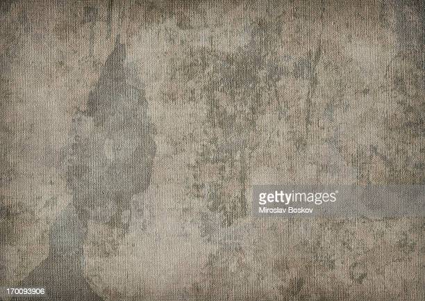 Hi-Res Artist's Primed Linen Canvas Mottled Blotted Vignette Grunge Texture