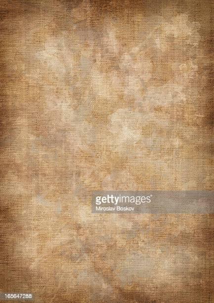 Hi-Res Artist's Unprimed Linen Duck Canvas Dappled Vignette Grunge Texture