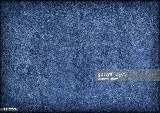 hi-res marine blue pig leather suede vignette grunge texture - suede stock pictures, royalty-free photos & images