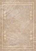 Hi-Res Medieval Animal-skin Parchment with Gilded Arabesque Decorative Motif