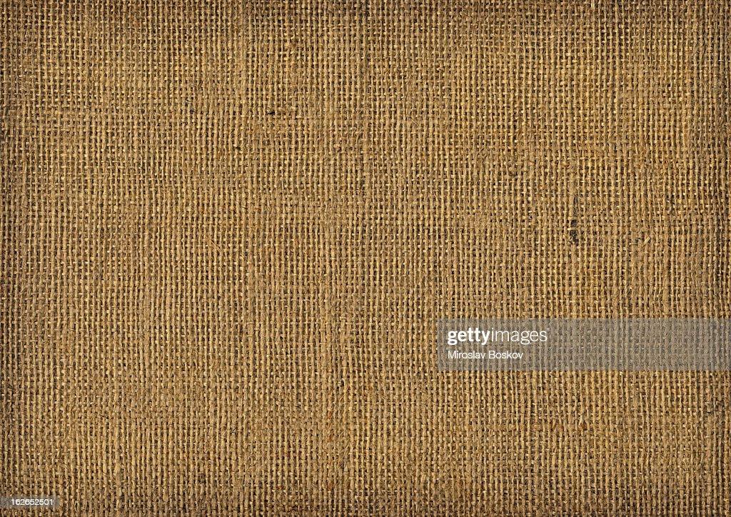 Hi Res Old Burlap Canvas Vignette Grunge Texture Stock Photo
