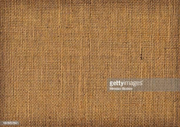 Hochauflösende alte Leinwand Textur aus grobkörnigem Vignetted