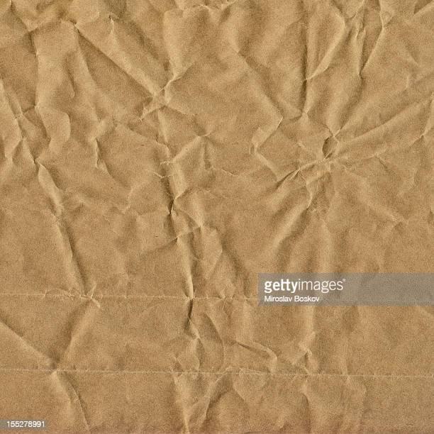 Hi-Res Old Recycle Brown Kraft Paper Bag Crumpled Grunge Texture