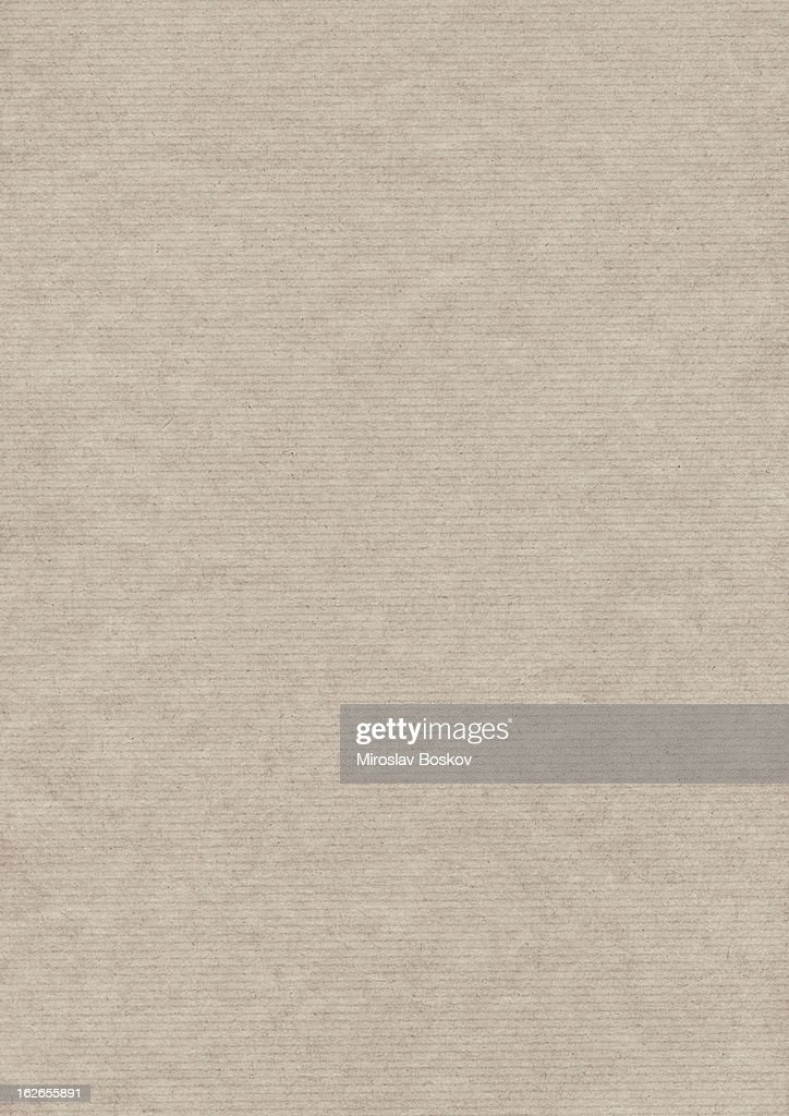 Hi-Res Recycled Beige Striped Wrapping Kraft Paper Grunge Texture : Stock Photo