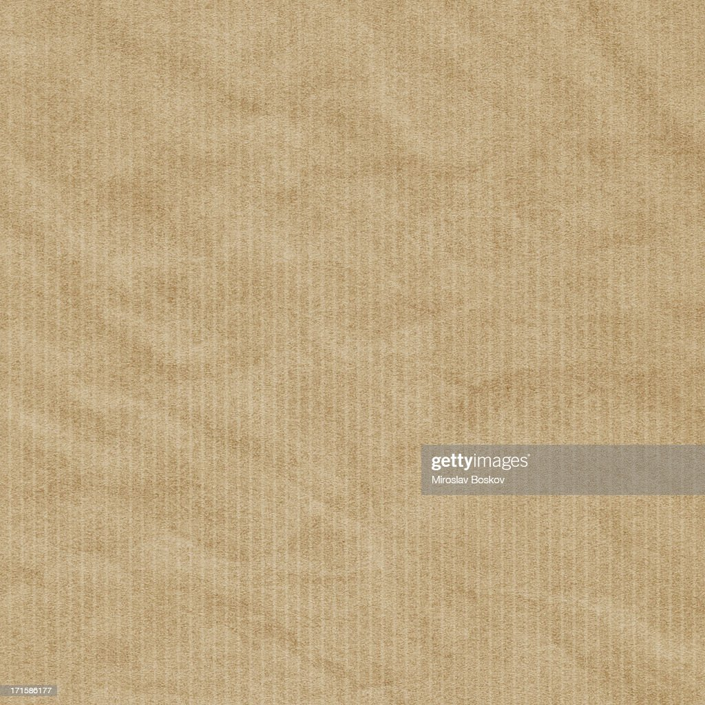 Hi-Res Recycled Striped Brown Kraft Wrapping Paper Crumpled Grunge Texture : Stock Photo