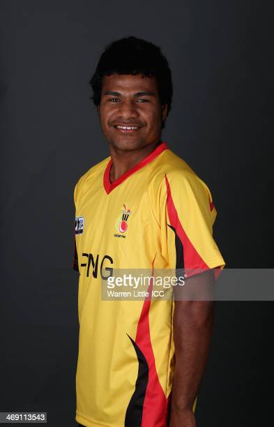 Hiri Hiri of Papua New Guinea poses for a portrait ahead of the ICC U19 Cricket World Cup at the ICC offices on February 11 2014 in Dubai United Arab...