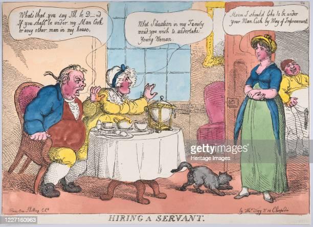 Hiring a Servant 1811 Artist Thomas Rowlandson
