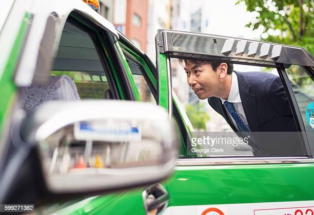 Hiring a Tokyo taxi