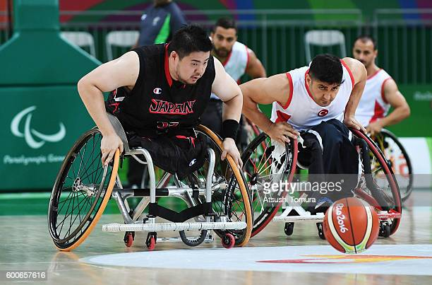 Hiroaki Kozai of Japan competes in the Men's Wheelchair Basketball group A preliminary between Turkey and Japan during the Rio 2016 Paralympic Games...