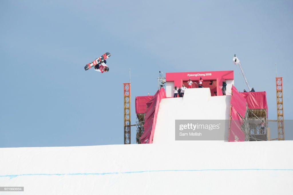 Hiroaki Kunitake, Japan, during the men's snowboard big air qualification at the Pyeongchang 2018 Winter Olympics on February 21st 2018, at the Alpensia Ski Jumping Centre in Pyeongchang-gun, South Korea