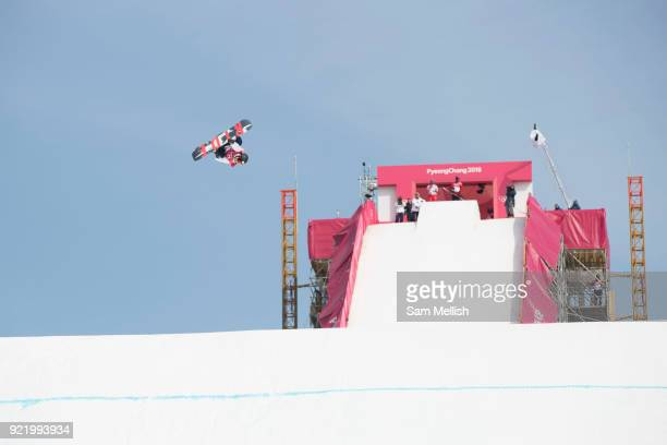 Hiroaki Kunitake Japan during the men's snowboard big air qualification at the Pyeongchang 2018 Winter Olympics on February 21st 2018 at the Alpensia...