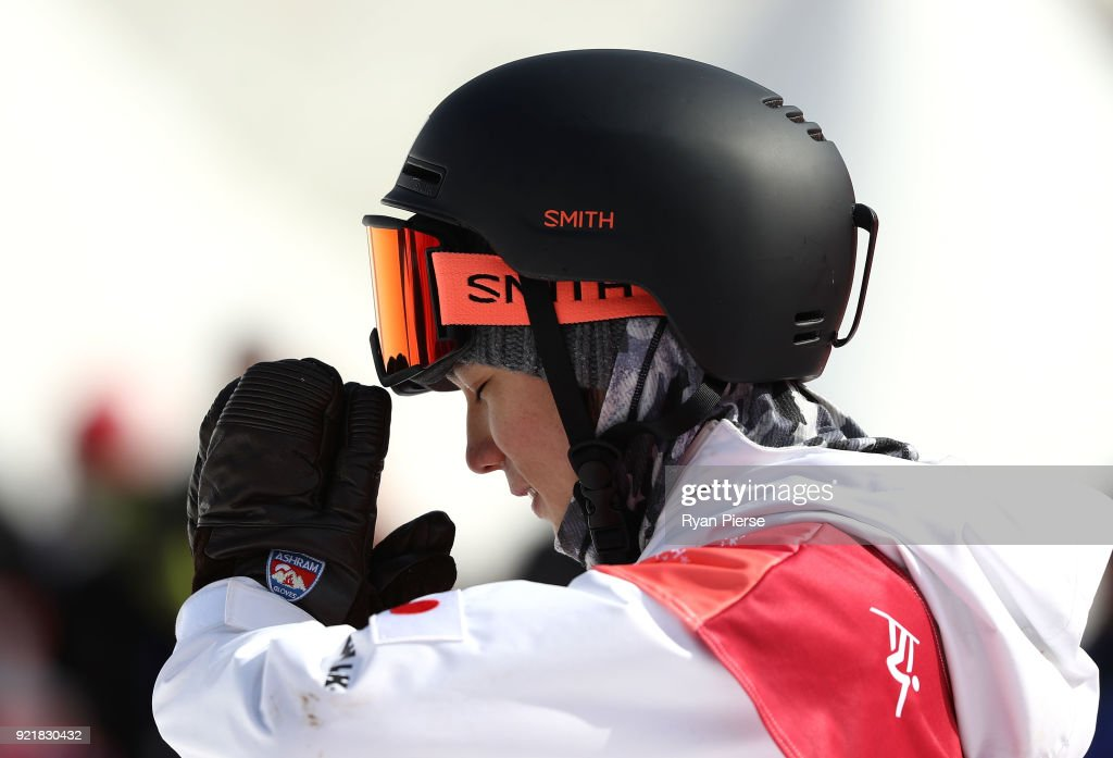 Hiroaki Kunitake of Japan reacts after his run during the Men's Big Air Qualification on day 12 of the PyeongChang 2018 Winter Olympic Games at Alpensia Ski Jumping Centre on February 21, 2018 in Pyeongchang-gun, South Korea.