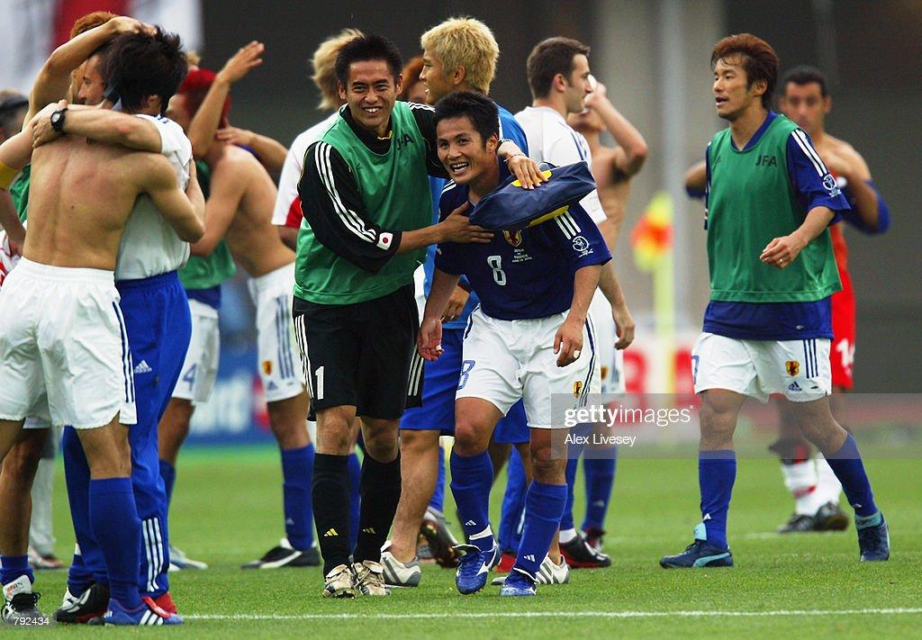 Hiroaki Morishima of Japan celebrates : ニュース写真