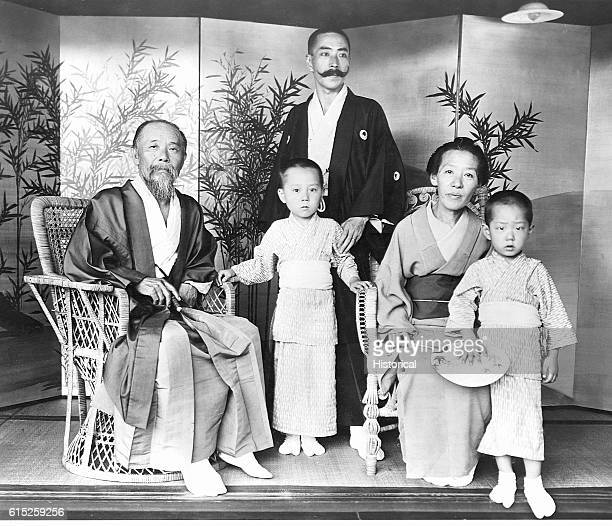 Hirobumi Ito a Japanese politician surrounded by his family