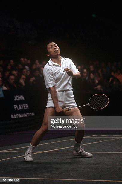 Hiroe Yuki from Japan in action on her way to winning the All England Badminton Championship