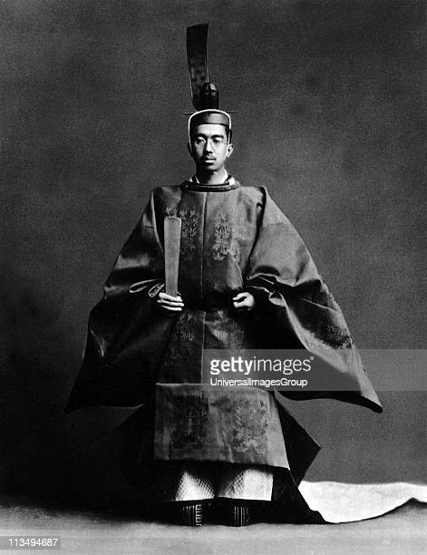 Hirohito 124th Emperor of Japan 19261989 The Emperor during his coronation ceremony dressed in the robes of the Shinto high priest of the religion of...