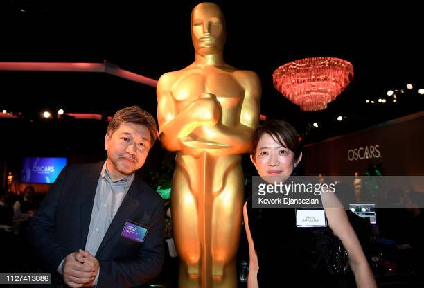 Hirokazu Koreeda and Kaoru Matsuzaki attend the 91st Oscars Nominees Luncheon at The Beverly Hilton Hotel on February 04 2019 in Beverly Hills...