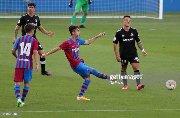 Hiroki Abe during the friendly match between FC Barcelona and Club Gimnastic de Tarragona, played at the Johan Cruyff Stadium on 21th July 2021, in...