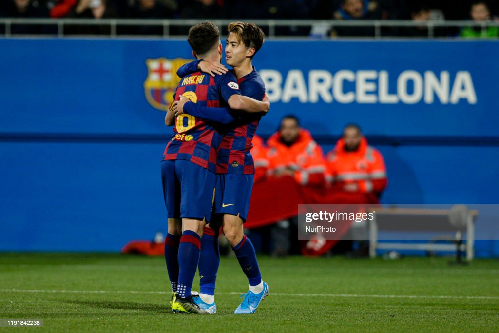 12 hiroki abe of fc barcelona b and 08 monchu of fc barcelona b news photo getty images https www gettyimages co uk detail news photo hiroki abe of fc barcelona b and 08 monchu of fc barcelona news photo 1191842238