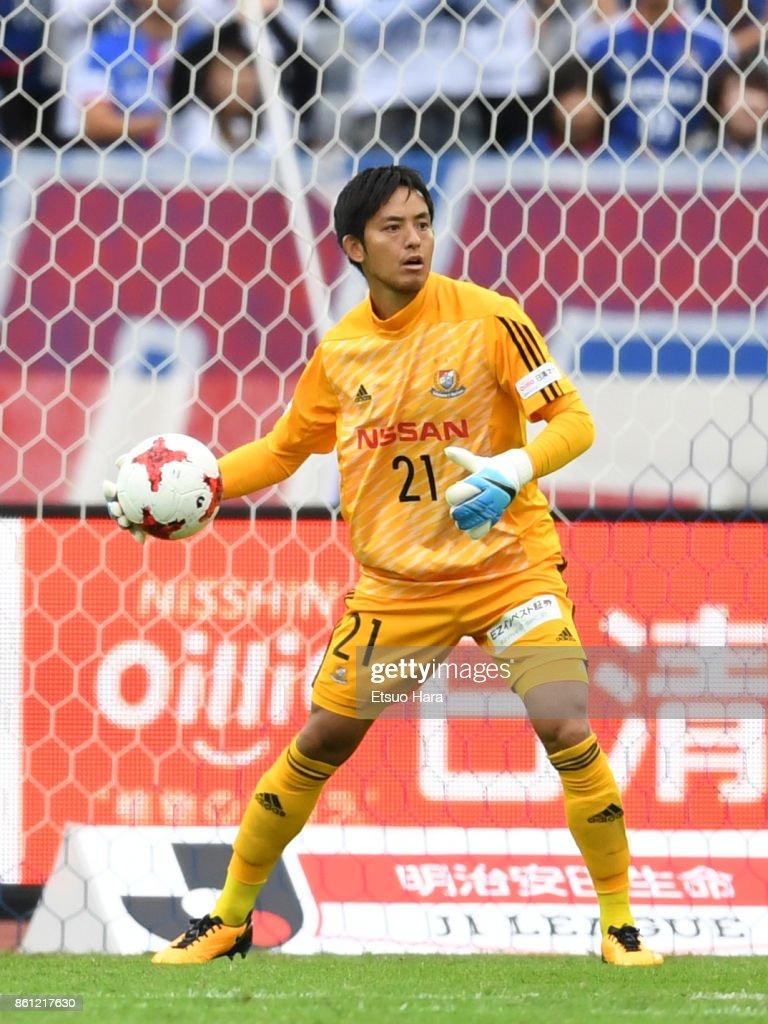 Hiroki Iikura of Yokohama F.Marinos in action during the J.League J1 match between Yokohama F.Marinos and Omiya Ardija at Nissan Stadium on October 14, 2017 in Yokohama, Kanagawa, Japan.