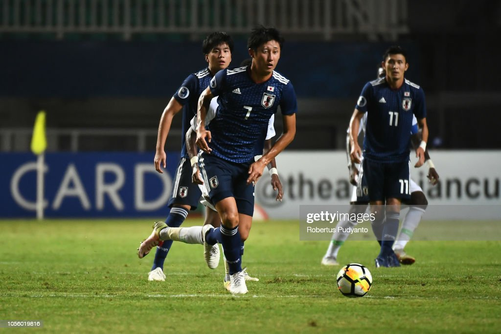 Japan v Saudi Arabia - AFC U-19 Championship Indonesia Semi Final : ニュース写真