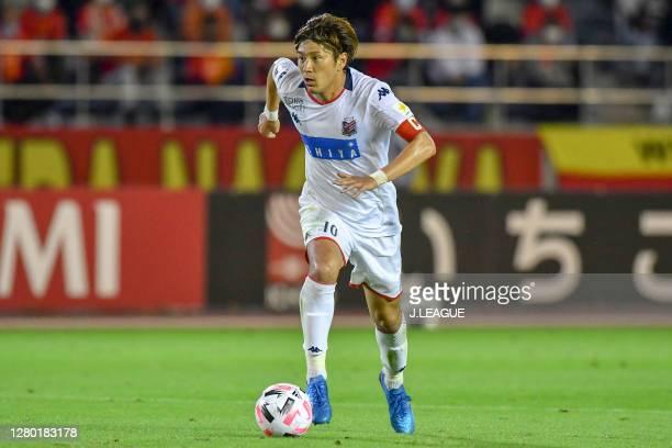 Hiroki MIYAZAWA of Consadole Sapporo in action during the J.League Meiji Yasuda J1 match between Nagoya Grampus and Consadole Sapporo at Paloma...