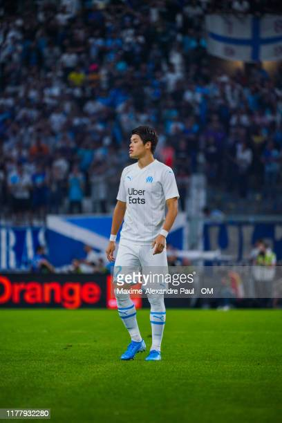 Hiroki Sakai during the Ligue 1 match between Olympique Marseille and Stade Rennes at Stade Velodrome on September 29, 2019 in Marseille, France.