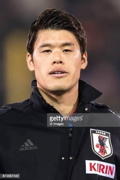 Hiroki Sakai of Japan during the friendly match between Belgium and Japan on November 14 2017 at the Jan Breydel stadium in Bruges Belgium