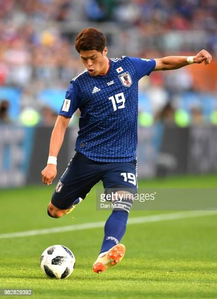 Hiroki Sakai of Japan in action during the 2018 FIFA World Cup Russia group H match between Japan and Senegal at Ekaterinburg Arena on June 24 2018...