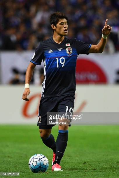 Hiroki Sakai of Japan in action during the FIFA World Cup Qualifier match between Japan and Australia at Saitama Stadium on August 31 2017 in Saitama...