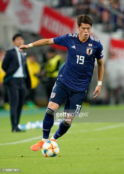 Hiroki Sakai of Japan in action during the international friendly match between Japan and Trinidad and Tobago at Toyota Stadium on June 05, 2019 in...