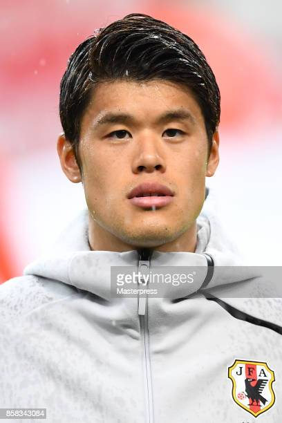 Hiroki Sakai of Japan looks on during the international friendly match between Japan and New Zealand at Toyota Stadium on October 6 2017 in Toyota...