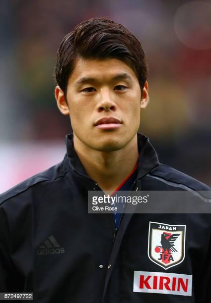 Hiroki Sakai of Japan looks on during the international friendly match between Brazil and Japan at Stade PierreMauroy on November 10 2017 in Lille...