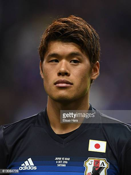 Hiroki Sakai of Japan looks on prior to the 2018 FIFA World Cup Qualifiers match between Japan and Iraq at Saitama Stadium on October 6 2016 in...