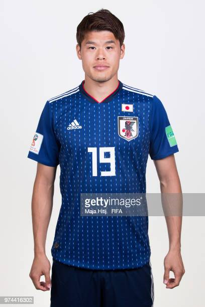 Hiroki Sakai of Japan poses for a portrait during the official FIFA World Cup 2018 portrait session at the FC Rubin Training Grounds on June 14 2018...