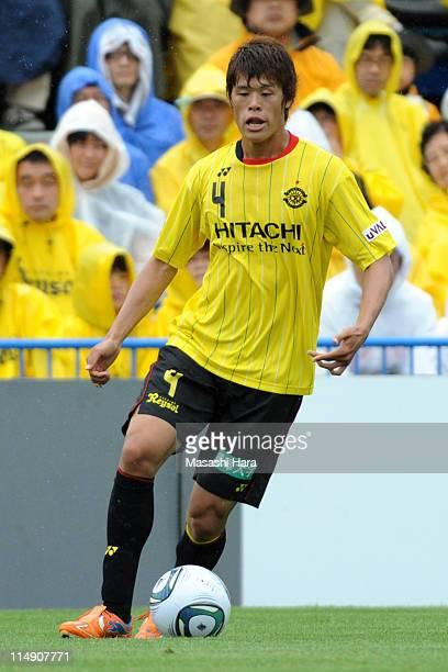 Hiroki Sakai of Kashiwa Reysol in action during the JLeague match between Kashiwa Reysol and Vissel Kobe at Hitachi Kashiwa Soccer Stadium on May 28...