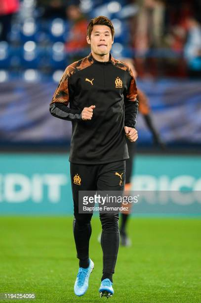 Hiroki SAKAI of Marseille before the French Cup Soccer match between US Granville and Olympique de Marseille at Stade Michel D'Ornano on January 17...