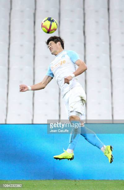 Hiroki Sakai of Marseille during the French Ligue 1 match between Olympique de Marseille and Girondins de Bordeaux at Stade Velodrome on February 5,...