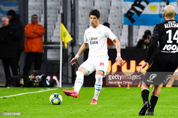 Hiroki SAKAI of Marseille during the Ligue 1 match between Marseille and Amiens at Stade Velodrome on March 6, 2020 in Marseille, France.