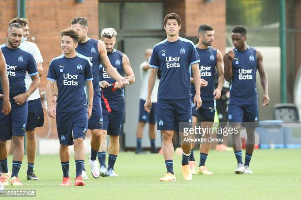 Hiroki SAKAI of Marseille during the Olympique de Marseille training session on August 13, 2020 in Marseille, France.